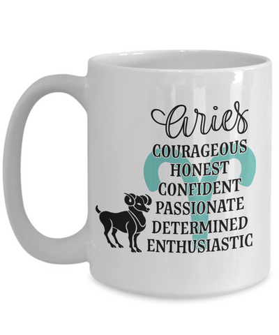 Aries Zodiac Mug Gift Fun Novelty Birthday Coffee Cup