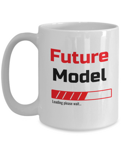 Funny Future Model Loading Please Wait Ceramic Coffee Mug for Men and Women Novelty Birthday Christmas Gift