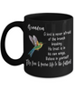 Grandson Fly Free Pursue Your Dreams Hummingbird Black Mug Gift Inspirational Novelty Birthday Graduation Cup