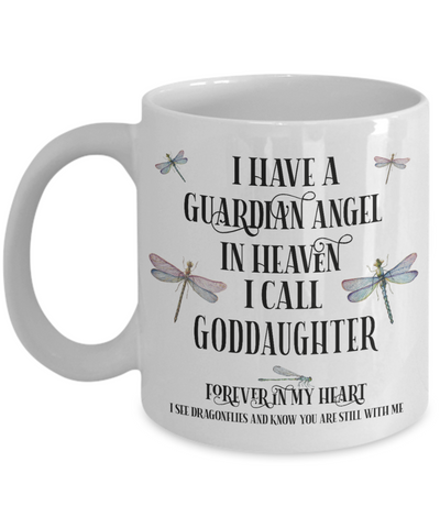 Goddaughter Dragonfly Memorial Mug Gift Guardian Angel In Loving Memory Keepsake Cup