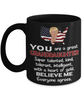 Funny Granddaughter Trump Black Mug Gift Heart of Gold Novelty Coffee Cup