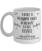 Fiance Dragonfly Memorial Mug Gift Guardian Angel In Loving Memory Keepsake Cup
