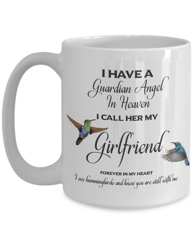Image of Girlfriend Memorial Gift I Have a Guardian Angel in Heaven... Girlfriend Remembrance Gifts