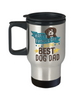 Happy Father's Day Best Dog Dad Travel Mug With Lid Lover Novelty Quote Gift Coffee Cup