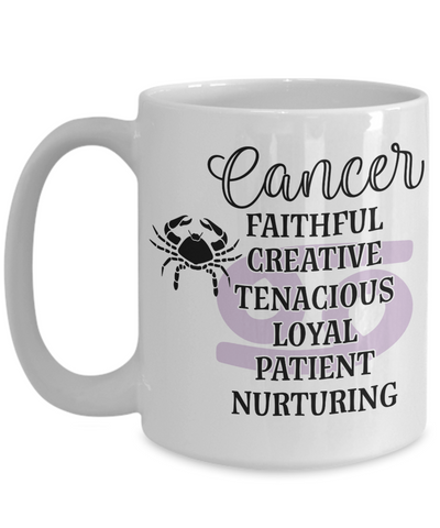 Cancer Zodiac Mug Gift Fun Novelty Birthday Coffee Cup