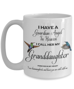 Grandchild Memorial Gift Guardian Angel in Heaven Granddaughter Grandchild Remembrance Gifts