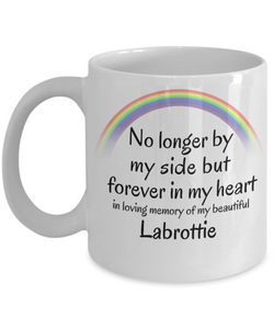 Labrottie Memorial Gift Dog Mug No Longer By My Side But Forever in My Heart Cup In Memory of Pet Remembrance Gifts