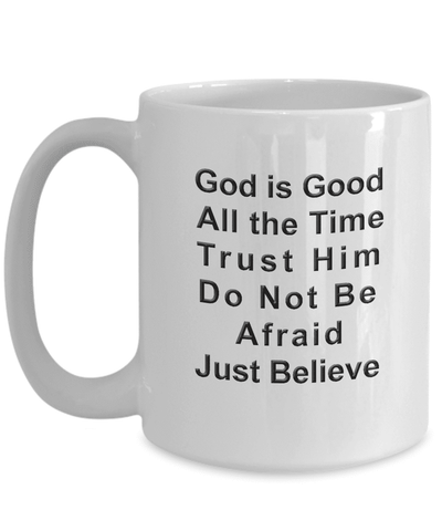 Image of Christian Faith Gifts God is Good All The Time Bible Scripture Verse Coffee Mug Gift