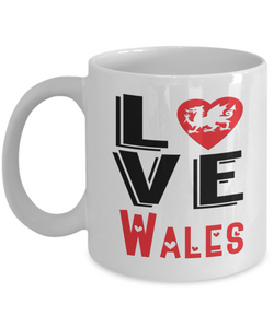 Love Wales Mug Gift Novelty Welsh Keepsake Coffee Cup