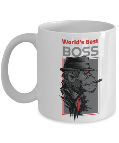 Funny Gorilla Mafia Boss Mug Gift Best Employer Day Birthday Novelty Coffee Cup