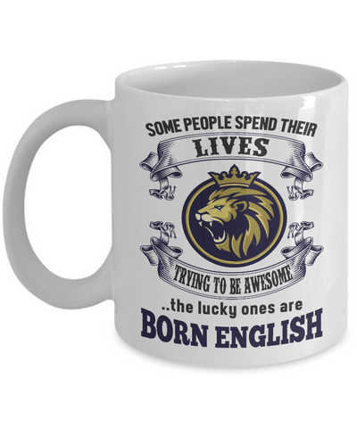 Image of Born English Mug England Gift Unique Novelty Birthday Ceramic Coffee Cup