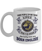 Born English Mug England Gift Unique Novelty Birthday Ceramic Coffee Cup