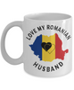 Love My Romanian Husband Mug Novelty Birthday Gift for Partner Ceramic Coffee Cup