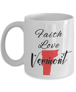 Patriotic USA Gift Mug Faith Love South Dakota Unique Novelty Birthday Christmas Ceramic Coffee Tea Cup