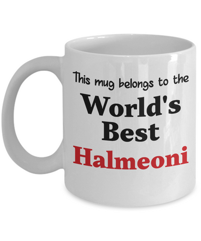 World's Best Halmeoni Mug Korean Grandmother Family Gift Novelty Birthday Thank You Appreciation Ceramic Coffee Cup