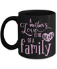 Mother's Love is the Heart of a Family Black Mug Gift Novelty Cup