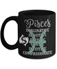 Pisces Zodiac Black Mug Gift Fun Novelty Birthday Coffee Cup