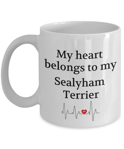 Image of My Heart Belongs to My Sealyham Terrier Mug Dog Lover Novelty Birthday Gifts Unique Cup Gifts