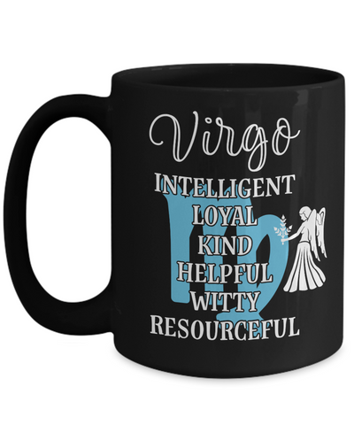 Virgo Zodiac Black Mug Gift Fun Novelty Birthday Coffee Cup