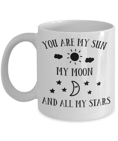 You Are My Sun My Moon And All My Stars Mug Novelty Birthday Valentine's Day Gift Ceramic Coffee Cup