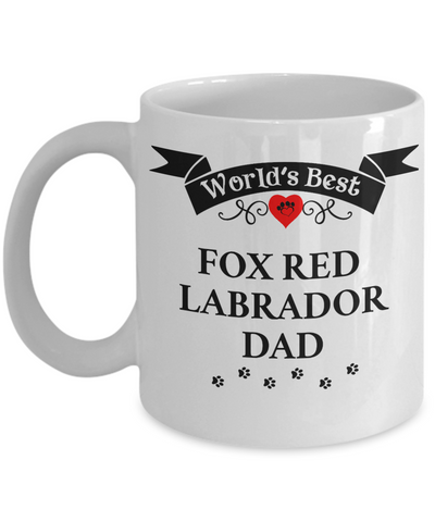 Image of World's Best Fox Red Labrador Dad Cup Unique Dog Ceramic Coffee Mug Gifts for Men