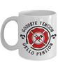 Firefighter Retirement Mug Gift Goodbye Tension Hello Pension Retire Happy Good Luck Novelty Cup