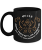 Uncle Memorial Gift Black Mug Gone From My Life Always in My Heart Remembrance Memory Cup