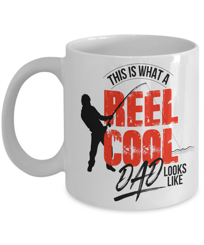 Image of Fishing Gift for Dad This is What A Reel Cool Dad Looks Like Father's Day Gift Birthday Coffee Mug