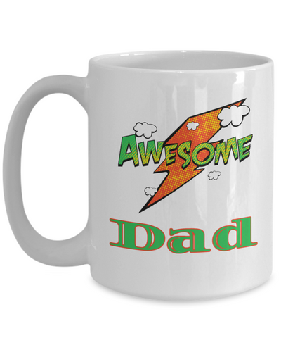 Awesome Dad Mug Unique Novelty Birthday Christmas Gifts Ceramic Coffee Cup Gifts
