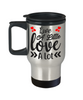 Live a Little Love a Lot Travel Mug Gift Romantic Husband Wife Lover Novelty Birthday Coffee Cup