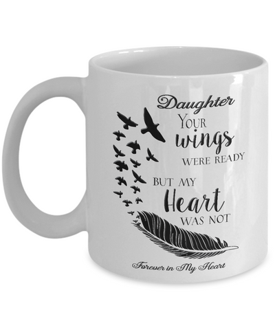 Image of Memorial Gifts Daughter Your Wings Were Ready...Bereavement Remembrance Gift