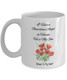 "Guardian Angel Gift , ""I Have a Guardian Angel in Heaven, He is My Son"" remembrance mug"