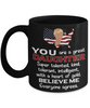 Funny Daughter Trump Black Mug Gift Heart of Gold Novelty Coffee Cup