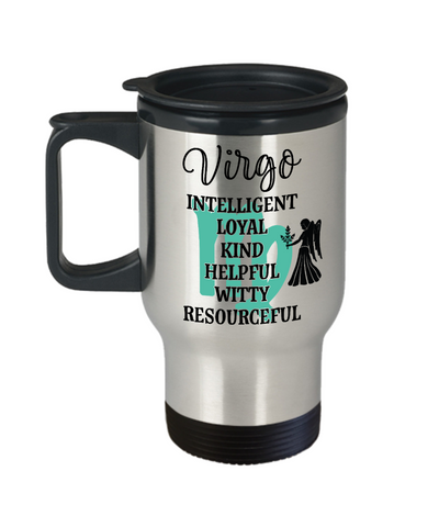 Virgo Zodiac Travel Mug Gift Fun Novelty Birthday Coffee Cup