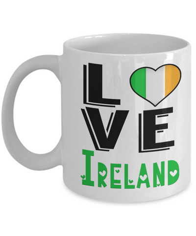 Love Ireland Mug Gift Novelty Irish Keepsake Coffee Cup
