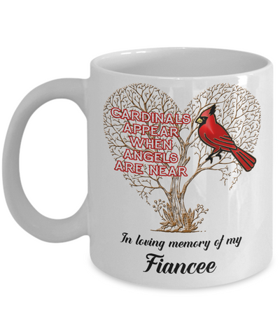 Fiancee Cardinal Memorial Coffee Mug Angels Appear Keepsake