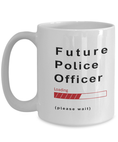 Image of Funny Future Police Officer Coffee Mug Cup Gifts for Men  and Women