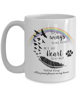 Welsh Corgi Bereavement Memorial Gifts Your Wings Were Ready...Welsh Corgi Remembrance Gift
