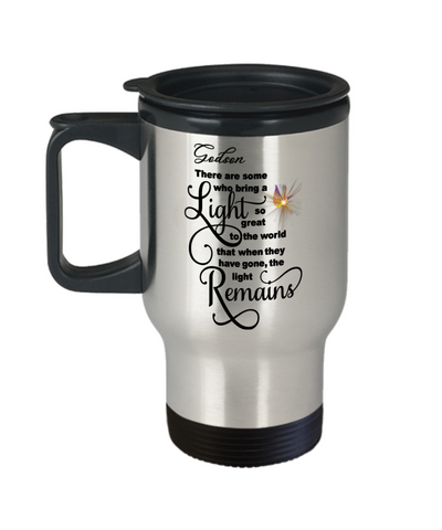 Godson Memorial Some Bring a Light So Great It Remains Travel Mug Gift In Loving Memory Cup