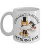Congratulations Wedding Day Cat Mug Gift Marriage Mr & Mrs Fur Lovers Novelty Cup