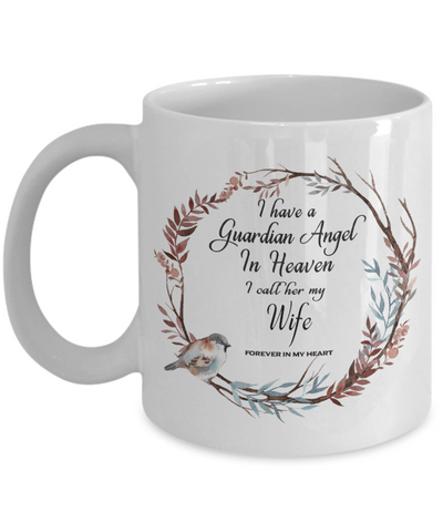 Image of In Remembrance Gift My Wife Forever in My Heart for In Memory  Ceramic Coffee Cup