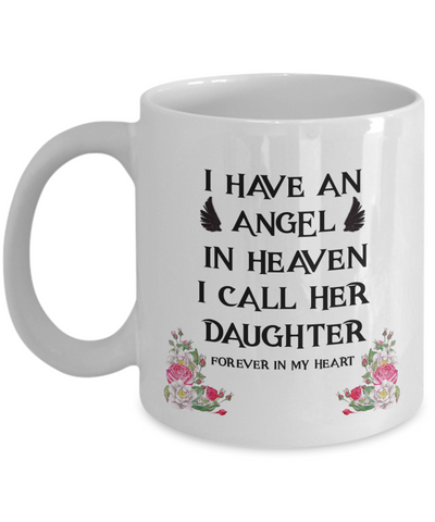Image of Memorial Gift for Parents, Remembrance  Gift for Bereaved Parents, Angel In Heaven  My Daughter