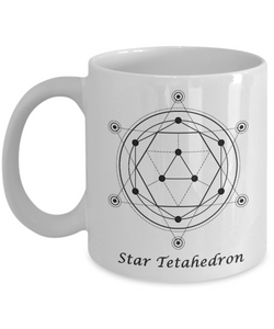 Sacred Geometry Coffee Mug Gifts Star Tetahedron Ceramic Cup