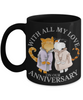 With All My Love on Our Anniversary Cat Black Mug Gift Wedding Mr & Mrs Novelty Cup