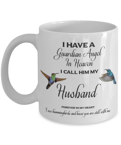 Image of Husband Memorial Gift Guardian Angel Husband Forever in My Heart  Spouse Remembrance Gifts