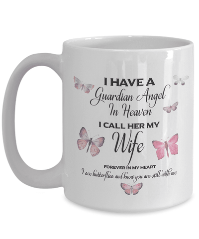 Image of Memorial Gift, I Have a Guardian Angel in Heaven, I Call Her Wife Remembrance Gifts