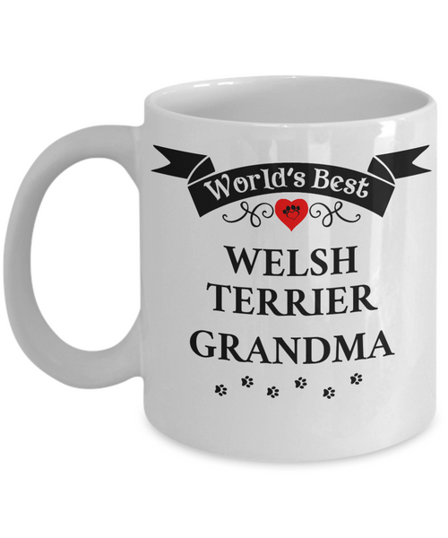 World's Best Welsh Terrier Grandma Cup Unique Ceramic Dog Coffee Mug Gifts for Women