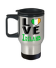 Love Ireland Travel Mug Gift Novelty Irish Keepsake Coffee Cup