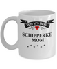 World's Best Schipperke Mom Cup Unique Ceramic Dog Coffee Mug Gifts for Women