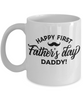 Happy First Father's Day Daddy Mug Gift Novelty Coffee Cup